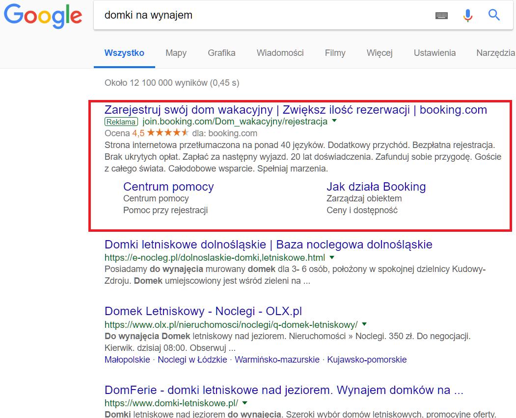 Google wyniki płatne