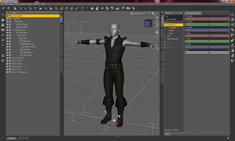 screen z programu Daz 3D