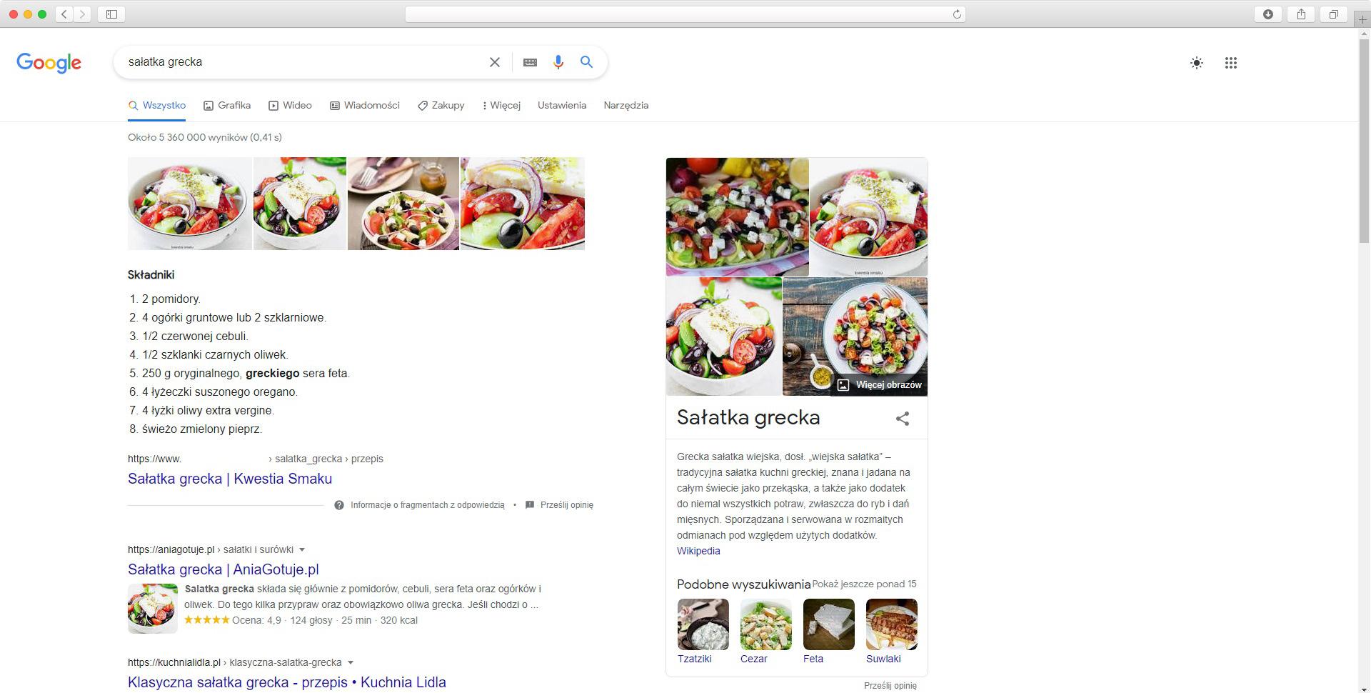 rich snippet przepis kulinarny