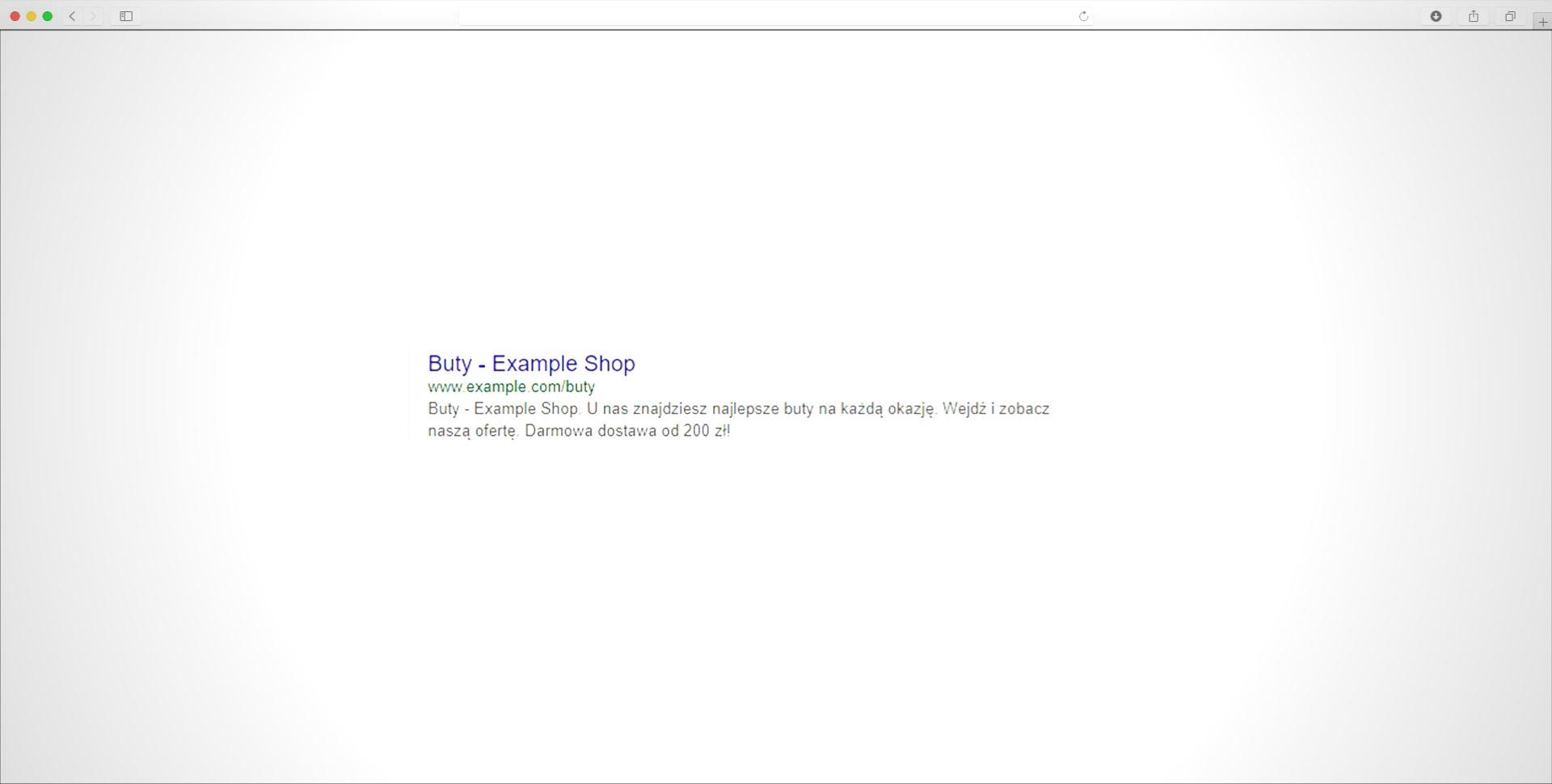 wynik wyszukiwania Google