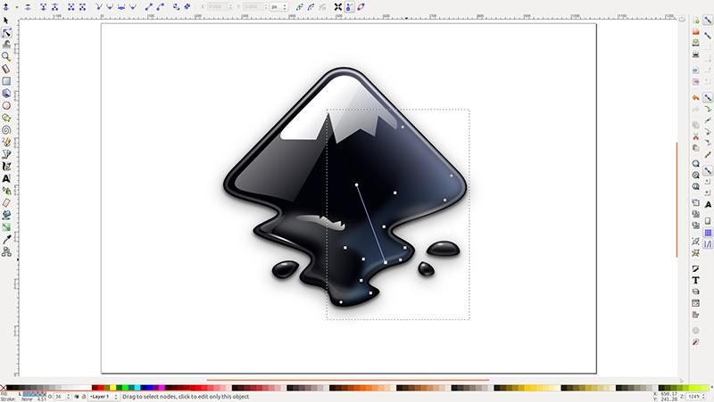 screen z programu Inkscape