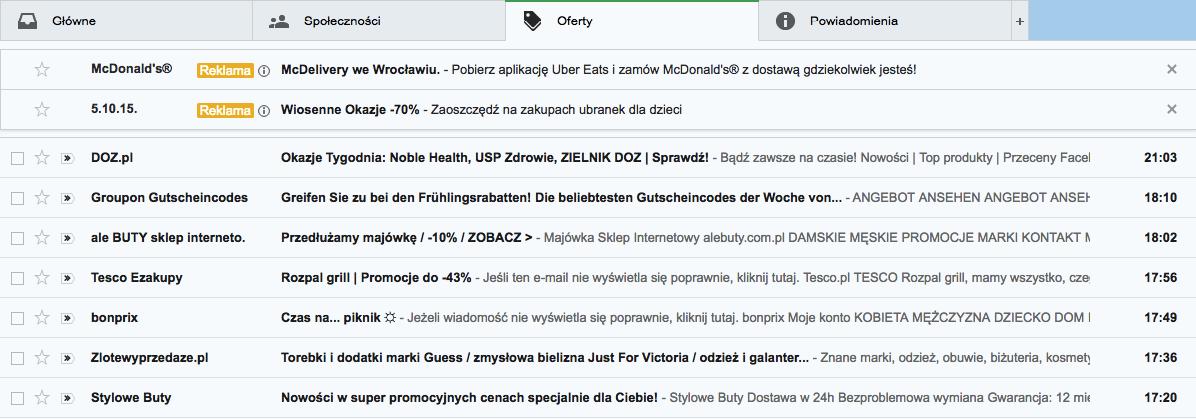 Reklama w Gmail