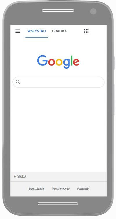 widok mobilny strony internetowej
