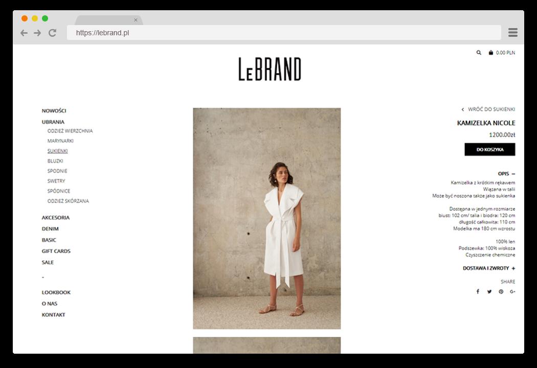 LeBRAND karta produktu