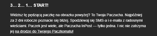 Wiadomość od InPostu