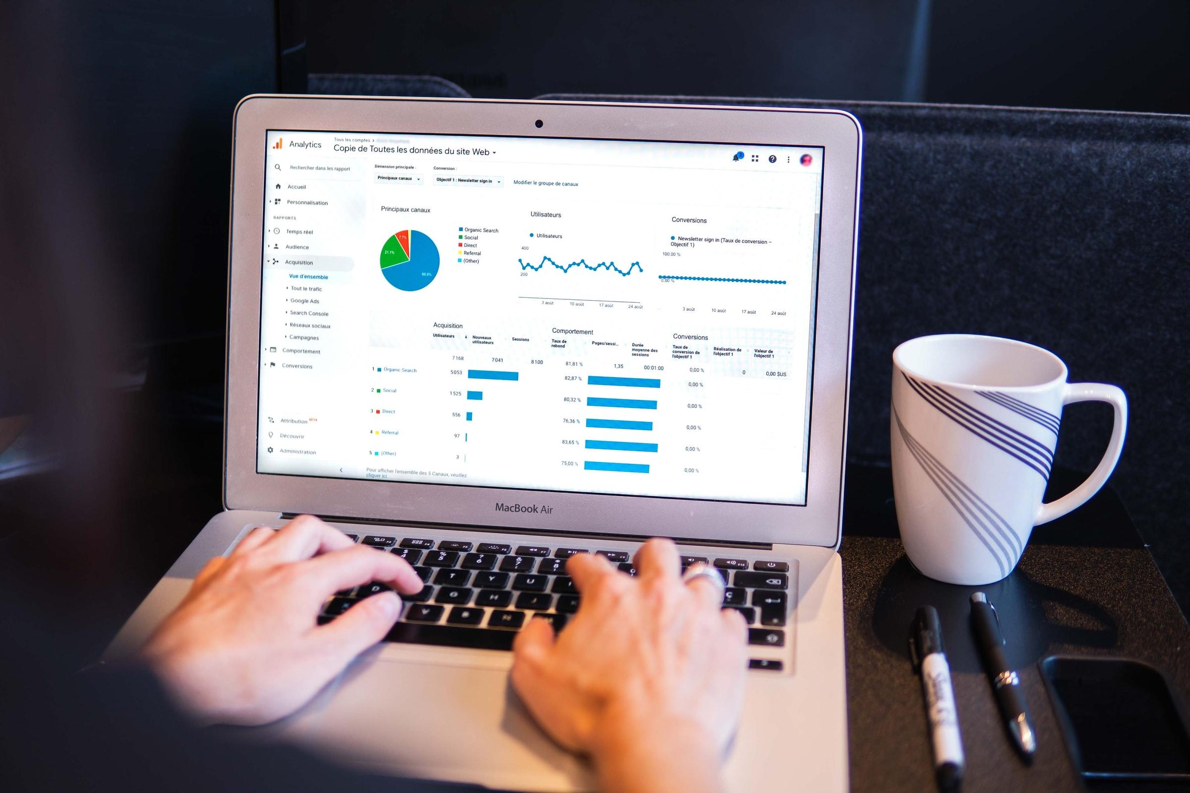 widok Google Analytics