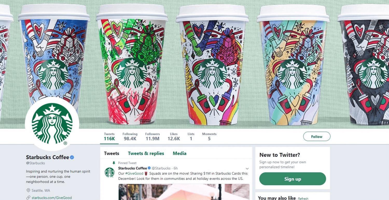 najlepsze kampanie świąteczne - Starbucks