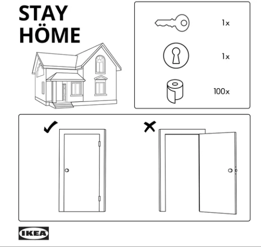 Ikea Israel - Stay Home instructions