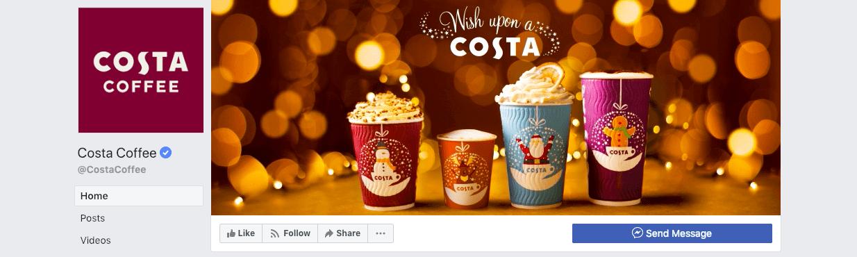 najlepsze kampanie świąteczne - Costa Coffee
