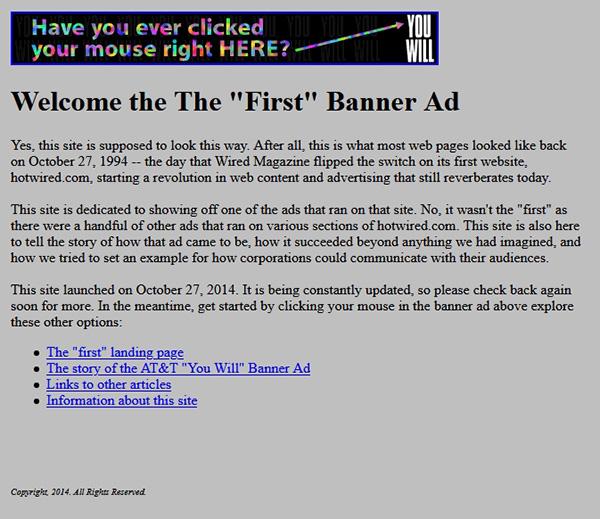 pierwsza reklama internetowa